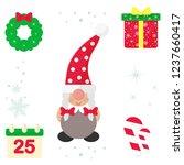winter cartoon christmas dwarf... | Shutterstock .eps vector #1237660417