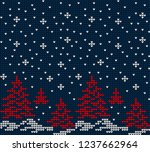 christmas and new year design... | Shutterstock .eps vector #1237662964