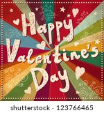 vector valentine greeting card | Shutterstock .eps vector #123766465