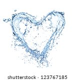 Heart Symbol Made Of Water...
