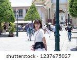 chinese girl in wat phra kaew... | Shutterstock . vector #1237675027