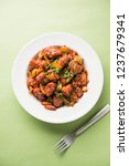 indian chilli chicken dry ... | Shutterstock . vector #1237679341
