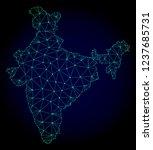 polygonal mesh map of india.... | Shutterstock .eps vector #1237685731