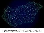 polygonal mesh map of hungary.... | Shutterstock .eps vector #1237686421