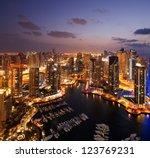 A View Of Dubai Marina  At Dus...