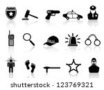 police icons set | Shutterstock .eps vector #123769321
