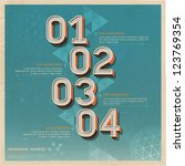 retro color options number... | Shutterstock .eps vector #123769354