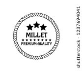 millet premium quality emblem ...   Shutterstock .eps vector #1237694041