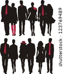 silhouettes of couples   Shutterstock .eps vector #123769489