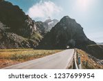 empty road and rocky mountain... | Shutterstock . vector #1237699954