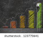 concept of growth forecast... | Shutterstock . vector #123770641
