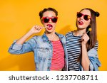 close up portrait photo of two... | Shutterstock . vector #1237708711