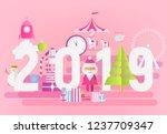 modern flat design new year... | Shutterstock .eps vector #1237709347