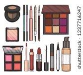 color illustration of makeup... | Shutterstock .eps vector #1237716247