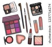 color illustration of makeup... | Shutterstock .eps vector #1237716274