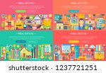 real estate horisontal banners... | Shutterstock .eps vector #1237721251