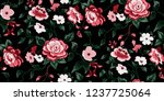 seamless floral pattern in... | Shutterstock .eps vector #1237725064