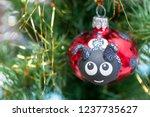 the ceramic christmas... | Shutterstock . vector #1237735627