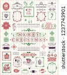 christmas and new year sketch... | Shutterstock .eps vector #1237743901