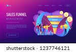 sales funnel stages  potencial... | Shutterstock .eps vector #1237746121