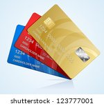vector credit cards isolated | Shutterstock .eps vector #123777001