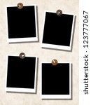 blank photo templates with push ... | Shutterstock . vector #123777067