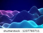visualization of sound waves.... | Shutterstock .eps vector #1237783711