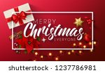 merry christmas greeting with... | Shutterstock . vector #1237786981