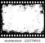 grunge filmstrip with...