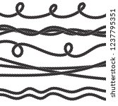 set of twisted vector rope icon ... | Shutterstock .eps vector #1237795351