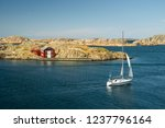 sea landscape with yachts and...   Shutterstock . vector #1237796164