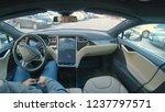 tesla autonomous car  march...   Shutterstock . vector #1237797571