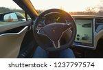 autonomous tesla car  march...   Shutterstock . vector #1237797574