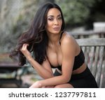sexy young black woman wearing...   Shutterstock . vector #1237797811