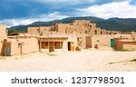 historic taos pueblo  indian... | Shutterstock . vector #1237798501