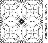 vector monochrome ornamental... | Shutterstock .eps vector #1237802497