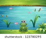 Illustration Of A River And A...