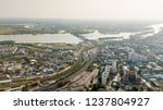 city panorama with railroads... | Shutterstock . vector #1237804927