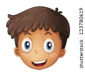 illustration of a face of a boy ...