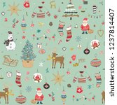 christmas background  seamless... | Shutterstock . vector #1237814407