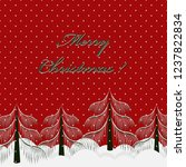 christmas greeting card.... | Shutterstock .eps vector #1237822834
