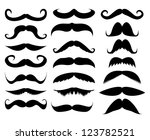mustache in a set on a white...   Shutterstock . vector #123782521