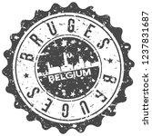 bruger belgium. travel stamp.... | Shutterstock .eps vector #1237831687