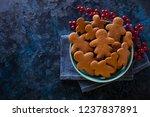 delicious homemade gingerbread...   Shutterstock . vector #1237837891