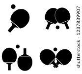 ping pong icon  logo on white...   Shutterstock .eps vector #1237839907
