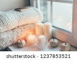 warm and cosy hygge concept... | Shutterstock . vector #1237853521