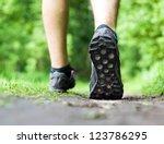 Man Walking Or Running On Trai...