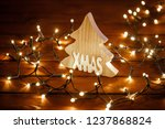 christmas lights and decoration | Shutterstock . vector #1237868824