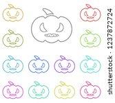 evil pumpkin icon in multi...