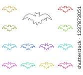 bat icon in multi color. simple ...